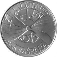 Strieborná minca 200 Kč Prvý verejný let Jana Gašpara 100. výročie 2011 Štandard