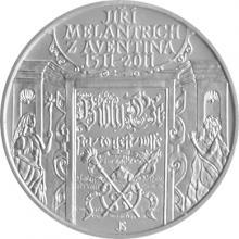 Strieborná minca 200 Kč Jiří Melantrich z Aventina 500. výročie narodenie 2011 Štandard
