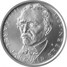Strieborná minca 500 Kč Karel Jaromír Erben 200. výročie narodenia 2011 Štandard