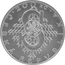 Strieborná minca 200 Kč Založenia Sokola 150. výročie 2012 Štandard