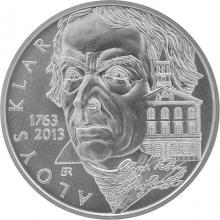 Stříbrná mince 200 Kč Aloys Klar 250. výročí narození 2013 Standard