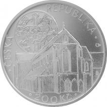 Stříbrná mince 200 Kč Založení klášteru Zlatá koruna 750. výročí 2013 Standard