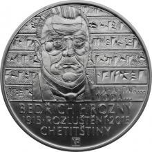 Stříbrná mince 200 Kč Bedřich Hrozný rozluštil chetitštinu 100. výročí 2015 Štandard