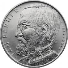 Strieborná minca 200 Kč Jan Perner 200. výročie narodenia 2015 Štandard