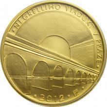 Zlatá minca 5000 Kč Negrelliho Viadukt v Prahe 2012 Štandard