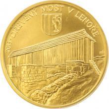 Zlatá mince 5000 Kč Dřevěný most v Lenoře 2013 Standard