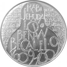 Stříbrná mince 200 Kč Rabí Jehuda Löw ben Becalel 400. výročí úmrtí 2009 Standard