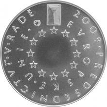 Stříbrná mince 200 Kč České předsednictví Evropské unie 2009 Standard