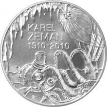 Stříbrná mince 200 Kč Karel Zeman 100. výročí narození 2010 Standard