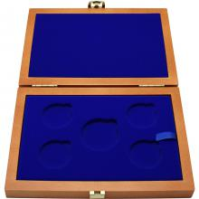 Dřevěná krabička 4 x Ag ČR 36 mm plus 1 x 45 mm