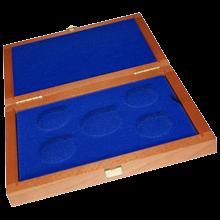 Drevenná krabička 4 x Ag ČR 36 mm plus 1 x 45 mm