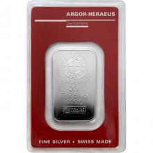 20g Argor Heraeus SA Švýcarsko Investiční stříbrný slitek