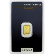 1g Argor Heraeus SA Švajčiarsko Investičná zlatá tehlička