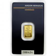 2g Argor Heraeus SA Švýcarsko Investiční zlatý slitek
