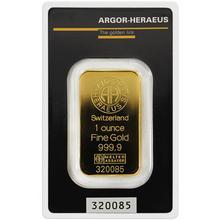 31,1g Argor Heraeus SA Švajčiarsko Investičná zlatá tehlička