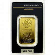 31,1g Argor Heraeus SA Švýcarsko Investiční zlatý slitek