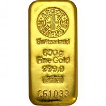 500g Argor Heraeus SA Švajčiarsko Investičná zlatá tehlička