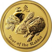 Zlatá investičná minca Year of the Rabbit Rok Králika Lunárny 2 Oz 2011