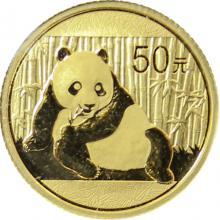 Zlatá investiční mince Panda 1/10 Oz 2015