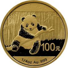 Zlatá investiční mince Panda 1/4 Oz 2014