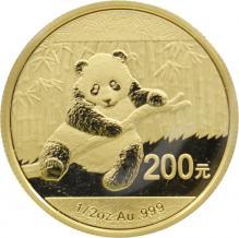 Zlatá investičná minca Panda 1/2 Oz