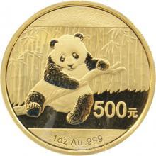 Zlatá investiční mince Panda 1 Oz