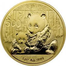 Zlatá investiční mince Panda 1 Oz 2012