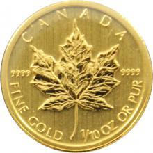 Zlatá investičná minca Maple Leaf 1/10 Oz