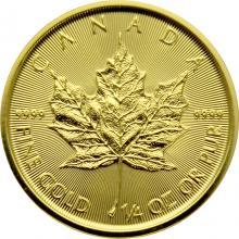 Zlatá investiční mince Maple Leaf 1/4 Oz