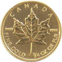 Zlatá investičná minca Maple Leaf 1/4 Oz
