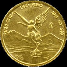 Zlatá investičná minca Mexico Libertad 1/20 Oz