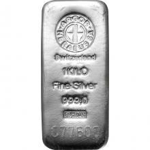 1000g Argor Heraeus SA Švajčiarsko Investičná strieborná tehlička