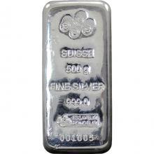 500g PAMP Strieborná investičná tehlička