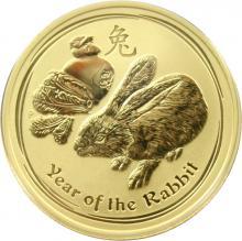 Zlatá investičná minca Year of the Rabbit Rok Králika Lunárny 1/2 Oz 2011