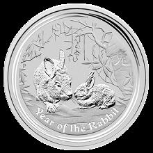 Strieborná investičná minca Year of the Rabbit Rok Králika Lunárny 10 Kg 2011
