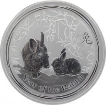 Stříbrná investiční mince Year of the Rabbit Rok Králíka Lunární 1 Kg 2011
