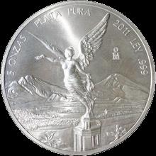 Strieborná investična mince Mexiko Libertad 5 Oz