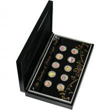 Orchideje Exkluzivní sada stříbrných mincí Série 2011 Singapur Proof
