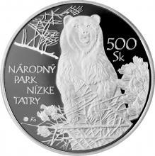 Národní park Nízké Tatry Stříbrná mince 2008 Slovensko Proof