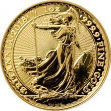 Zlatá investičná minca Britannia 1 Oz