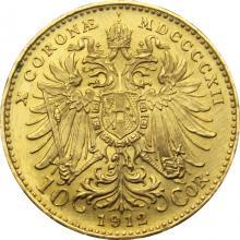 Zlatá investičná minca Ďesaťkorunáčka Františka Jozefa I. 1912 (novorazba)