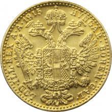 Zlatá investiční mince Dukát Františka Josefa I. 1915 (novoražba)