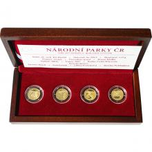 Sada 4 zlatých medailí Národní parky ČR 2007 Proof