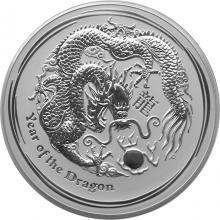 Stříbrná investiční mince Year of the Dragon Rok Draka Lunární 1 Kg 2012