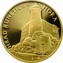 Zlatá uncová medaile Hrad Kunětická hora 2012 Proof