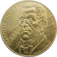 Zlatá investiční medaile 1 Kg František Palacký Motiv 1000 Kč bankovky 2012 Standard