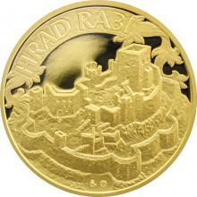 Zlatá uncová medaile Hrad Rabí 2012 Proof
