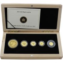 Maple Leaf 5. výročí Stokilové zlaté mince Sada zlatých mincí 2012 Proof (.99999)