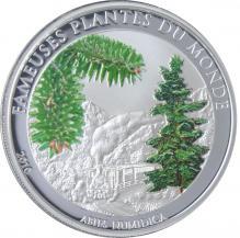 Postříbřená mince Jedle Numidská 2010 Proof Benin