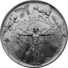 Strieborná minca 200 Kč Ochrana a tvorba životného prostredia 1994 Štandard